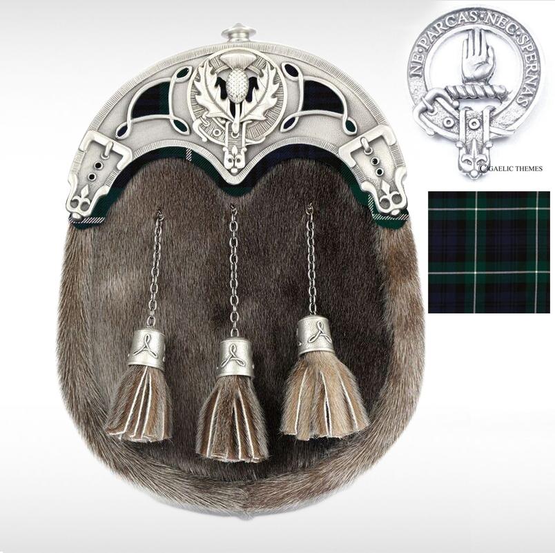 Sealskin Clan Tartan Sporran