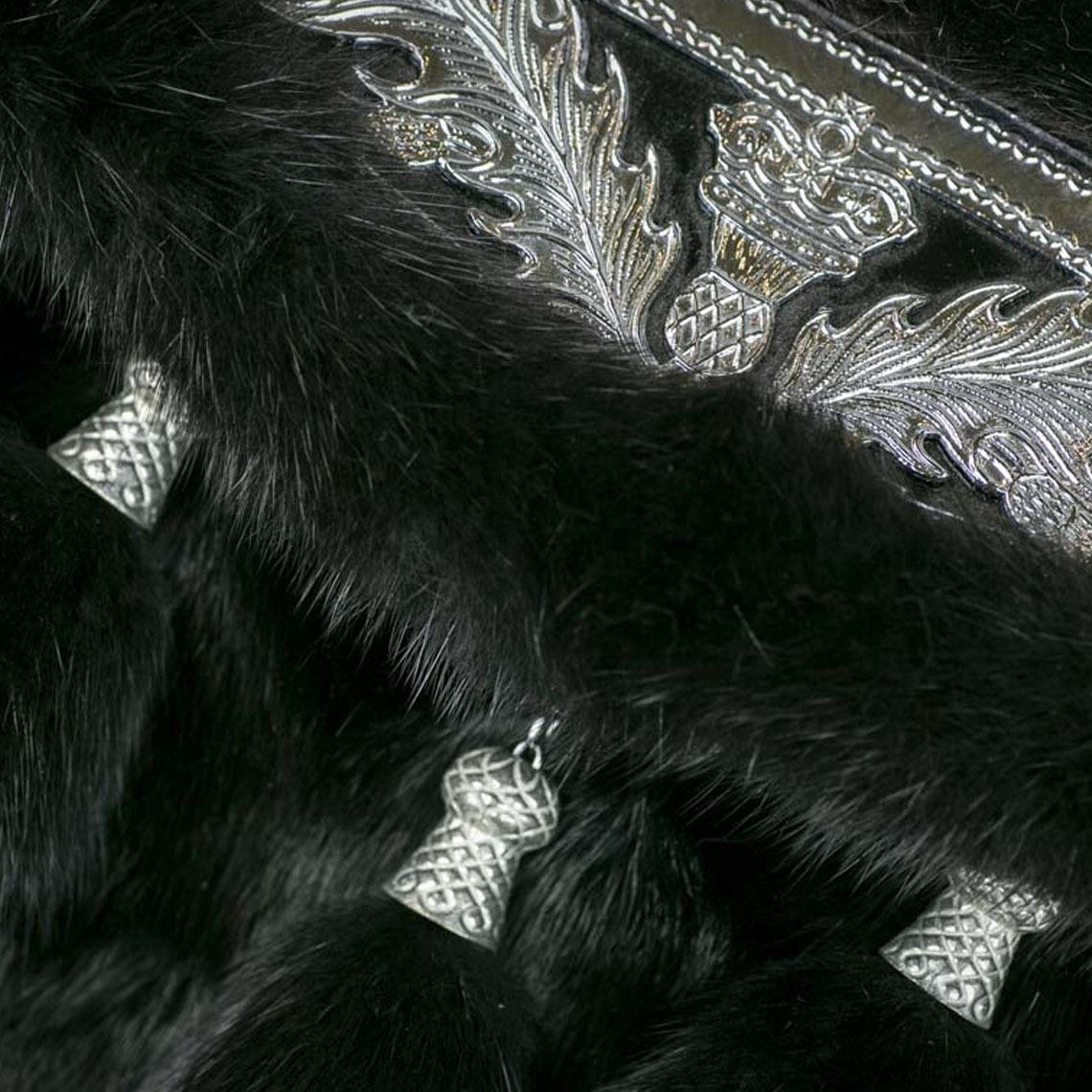 Black Mink Prince Charlie Sporran