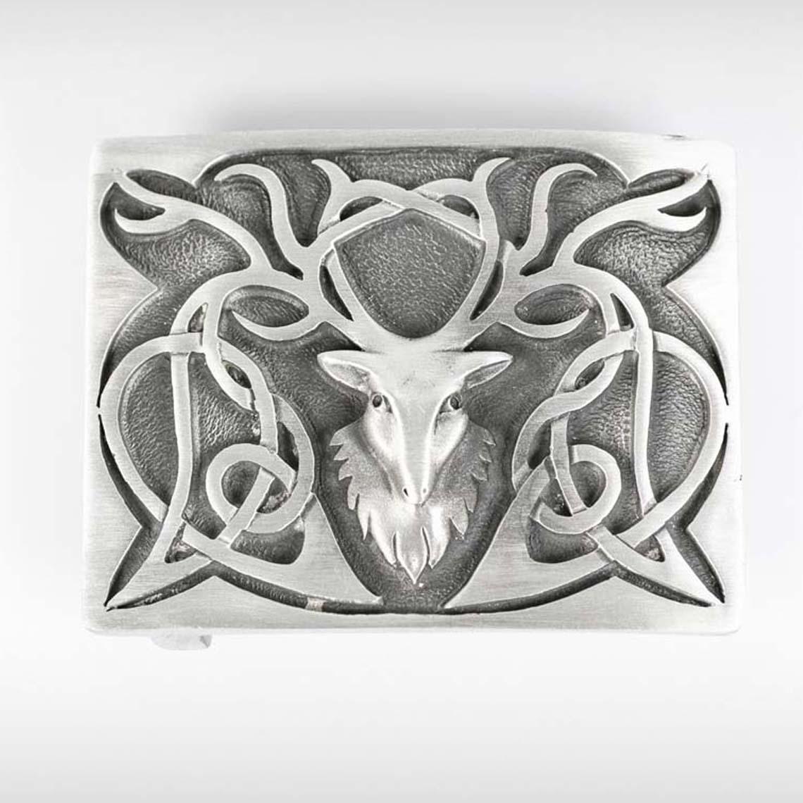 Art Nouveau Stag Belt Buckle