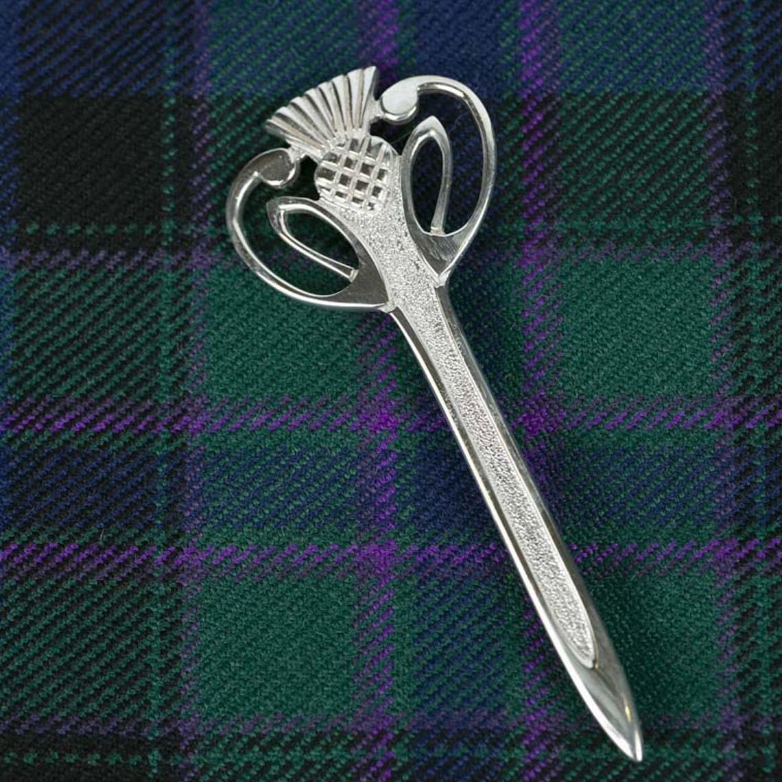 Contemporary Thistle Kilt Pin