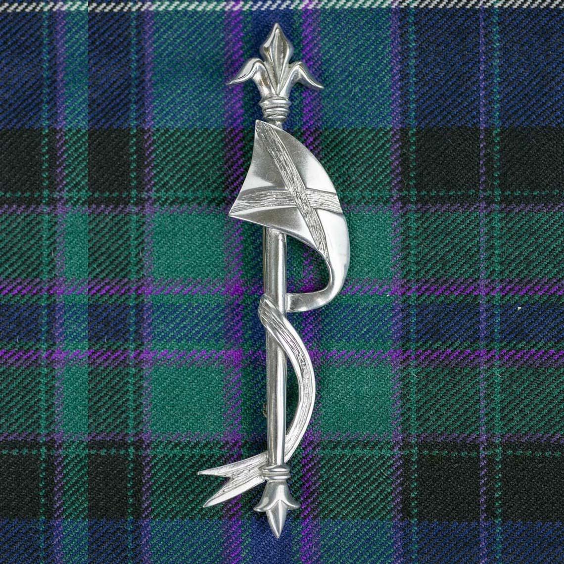 Lance and Saltire Kilt Pin