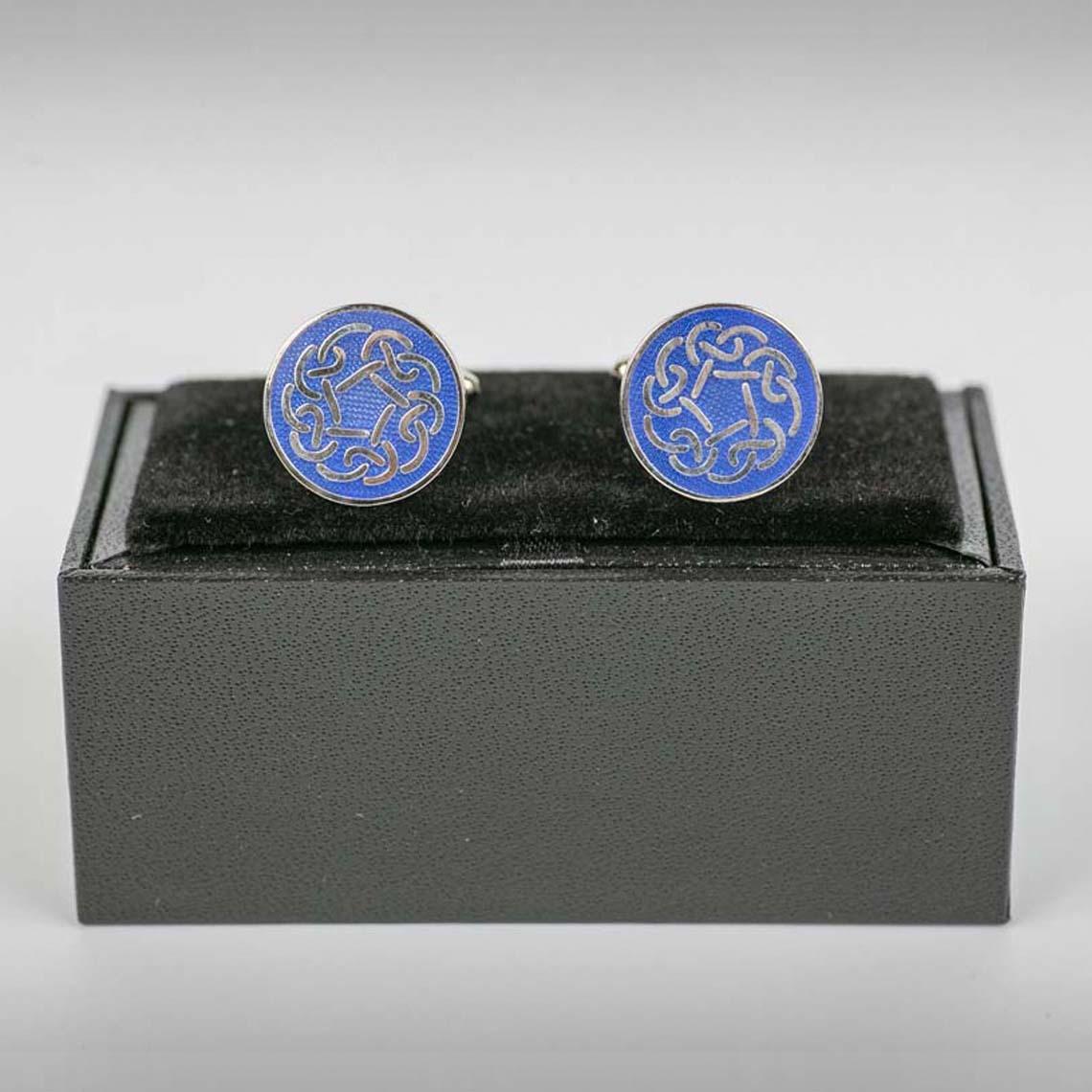 Blue Celtic Cufflinks