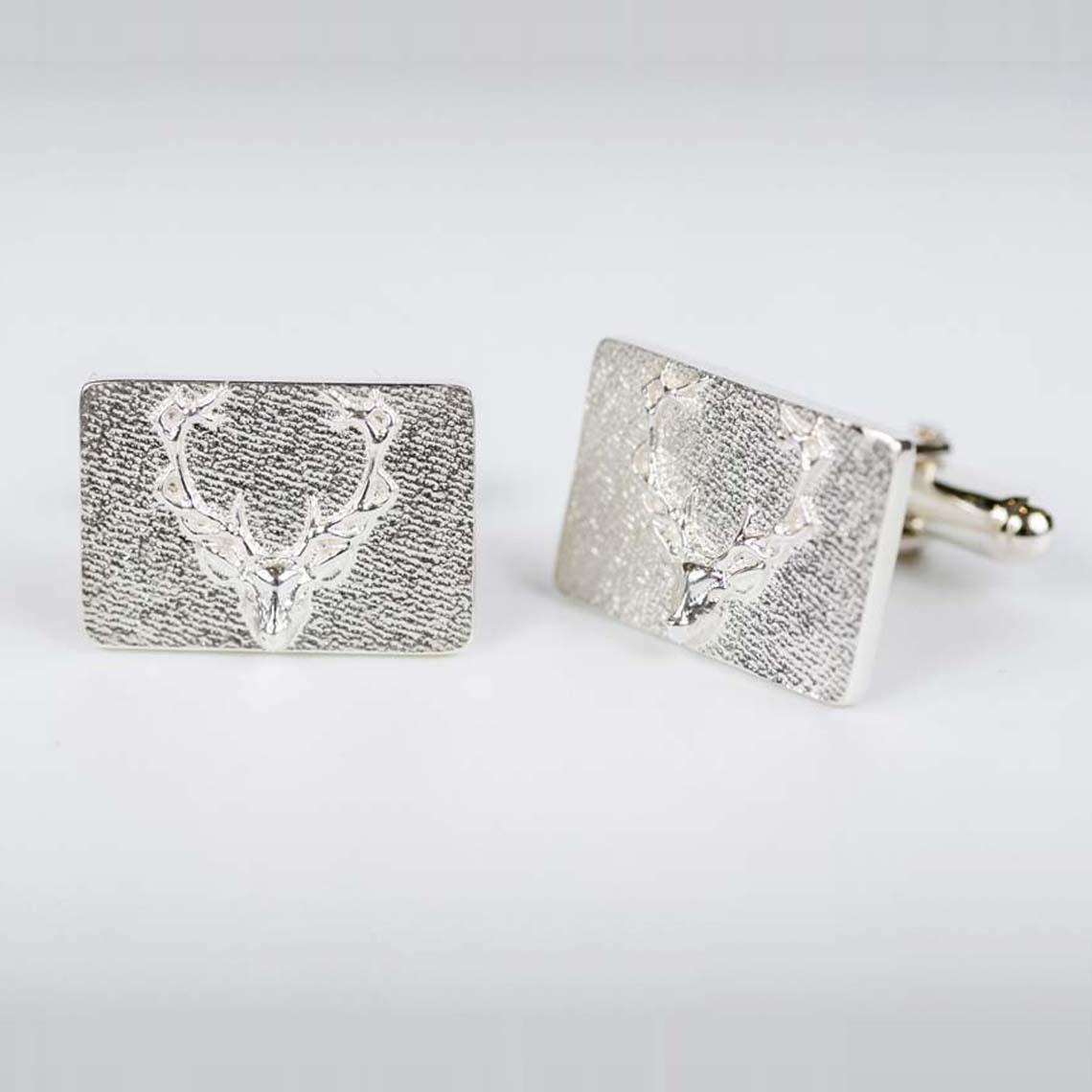 Silver Stag Cufflinks