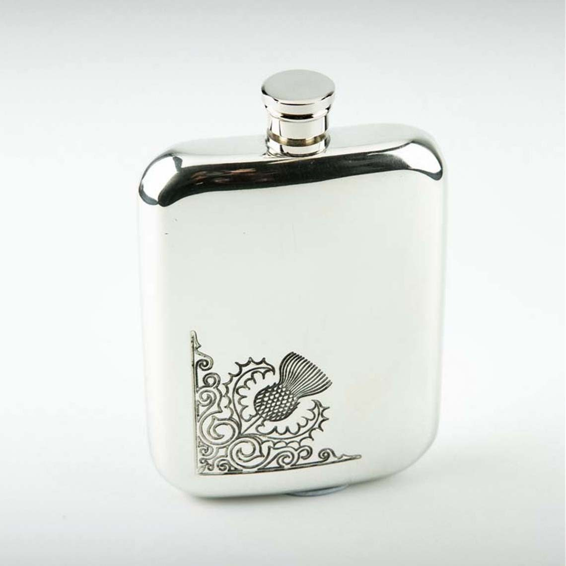 Corner Thistle Hip Flask