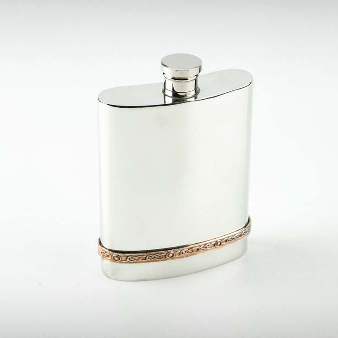Copper Band Hip Flask