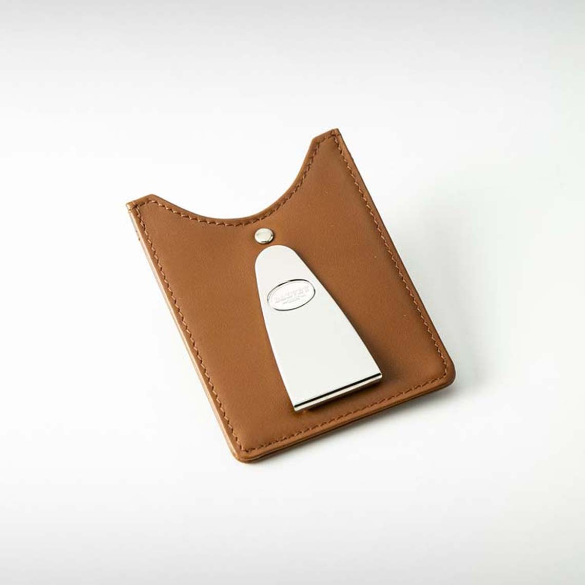 Dalvey Brown Money Clip & Card Holder