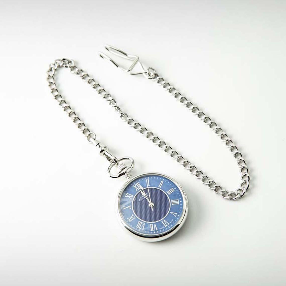 Dalvey Open Face Packet Watch Blue