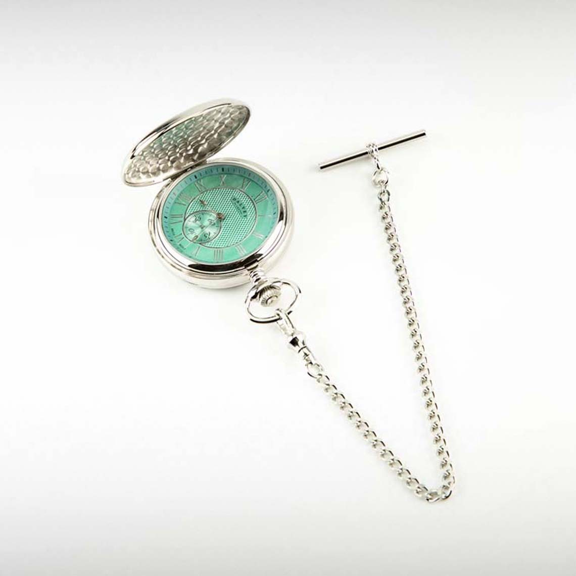 Dalvey Full Hunter Pocket Watch Turquoise