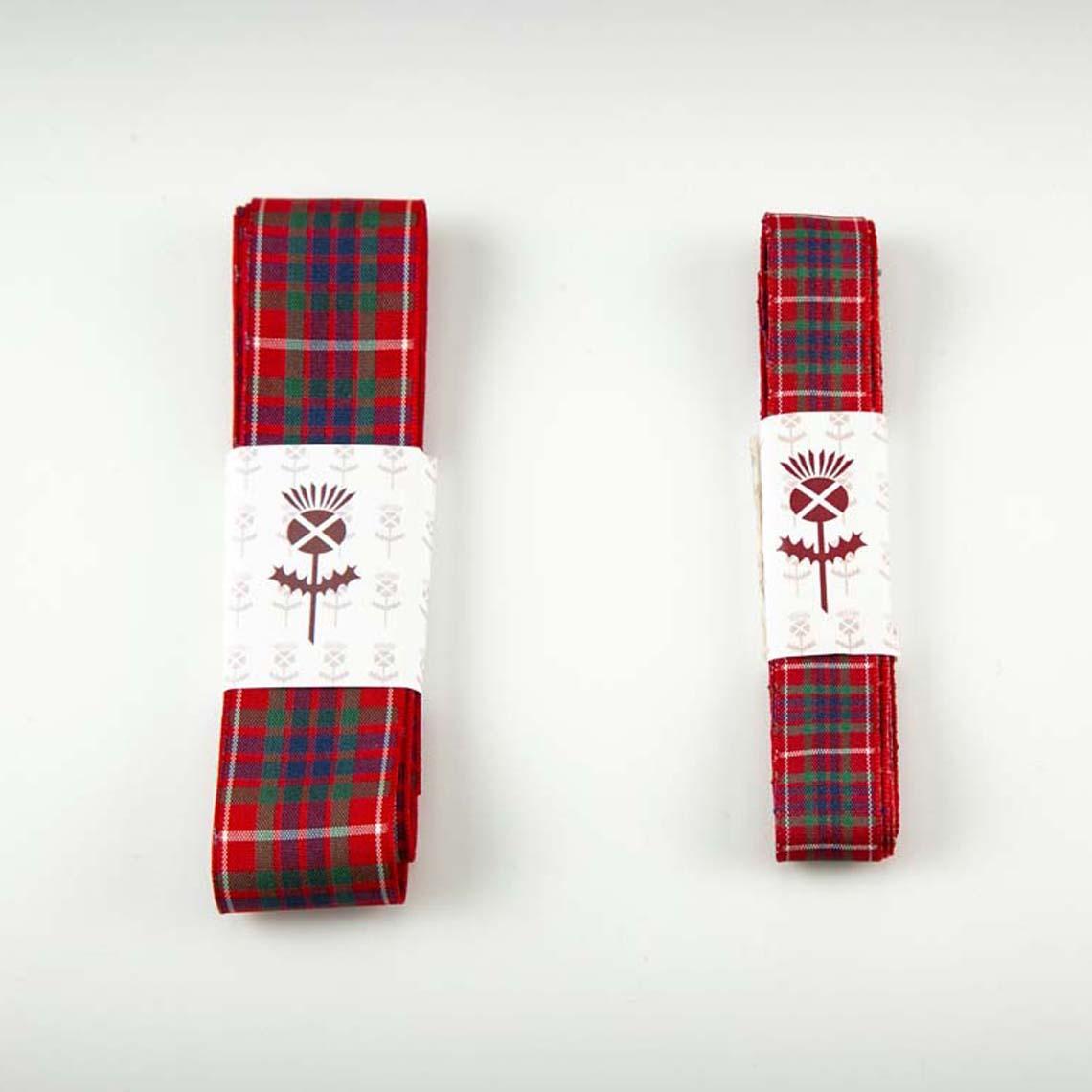Red Fraser Tartan Ribbon
