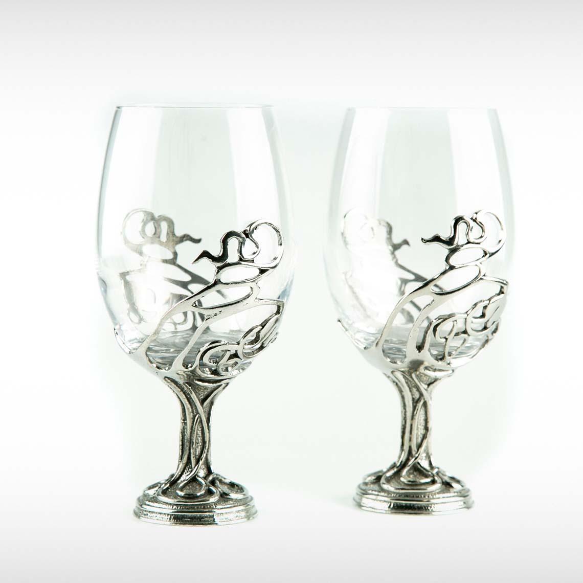 Swirl Wine Glasses Pair