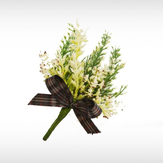 Silver Pride Heather Buttonhole