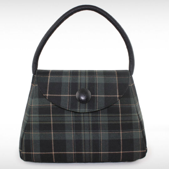 Tartan Bucket bag with Leather detail - Hunting Pride (Zara)