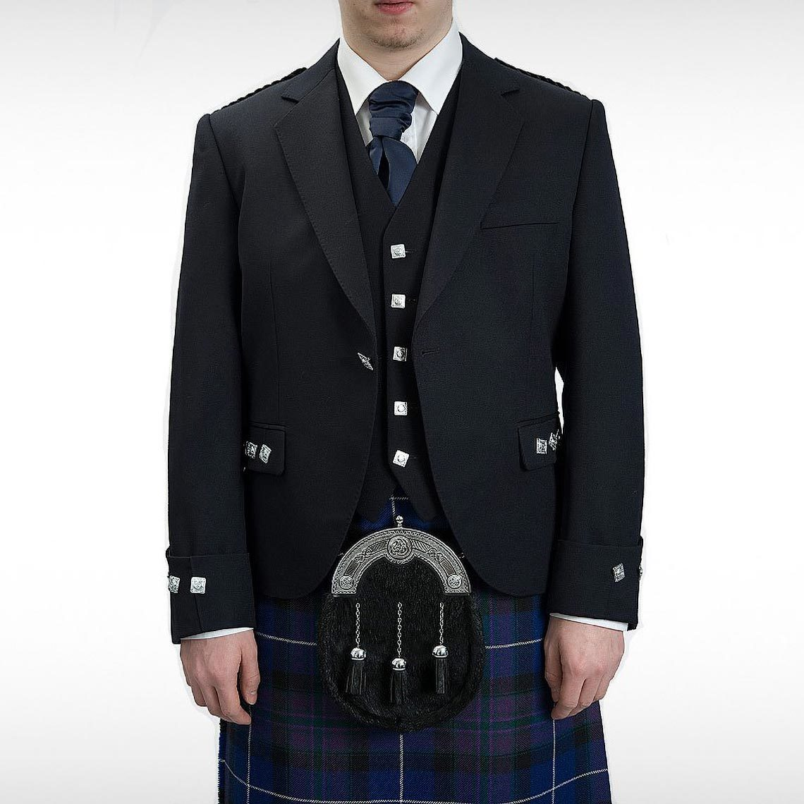 Navy Midon Argyll Jacket