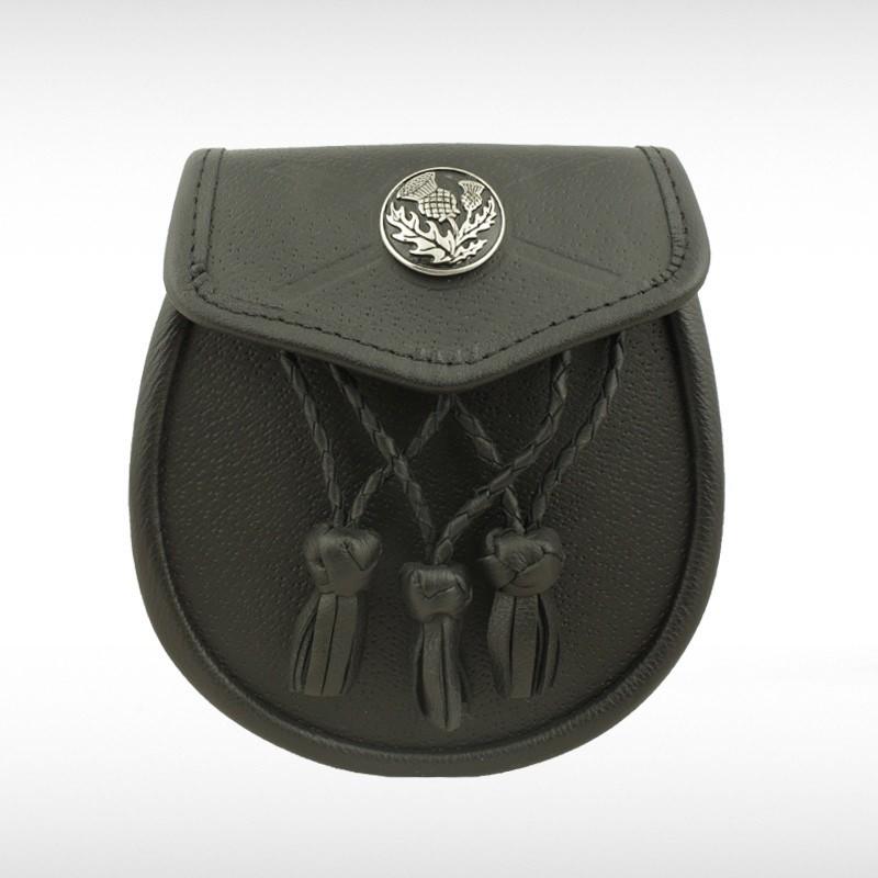 Black Leather Thistle Sporran