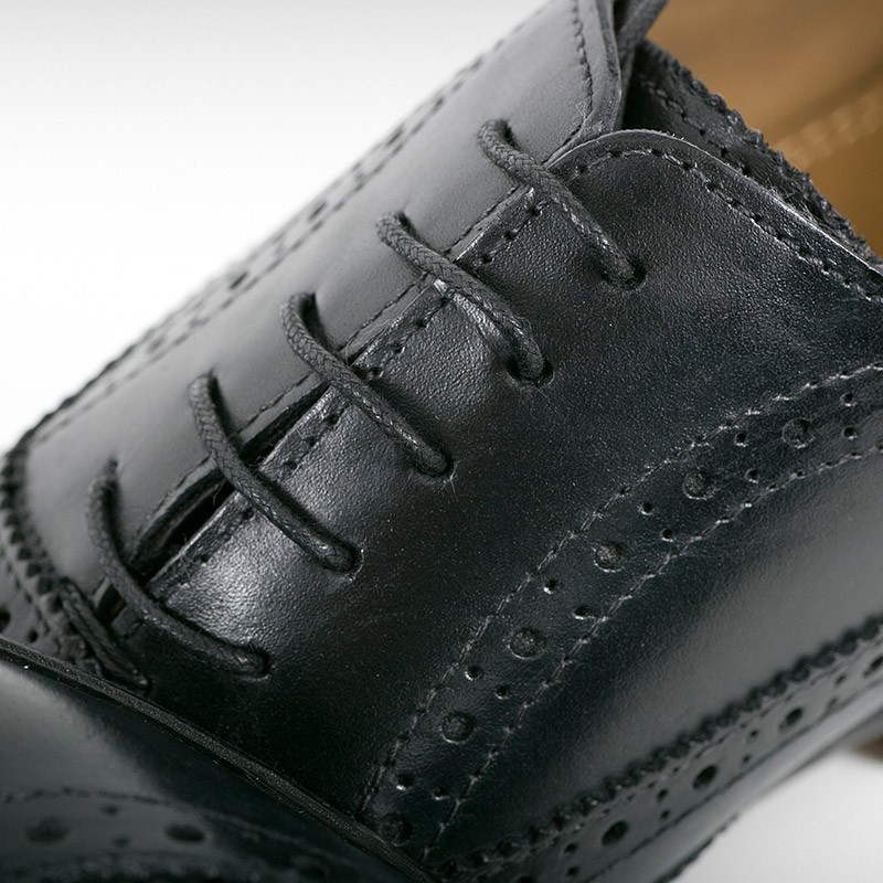 Black Leather Brogue
