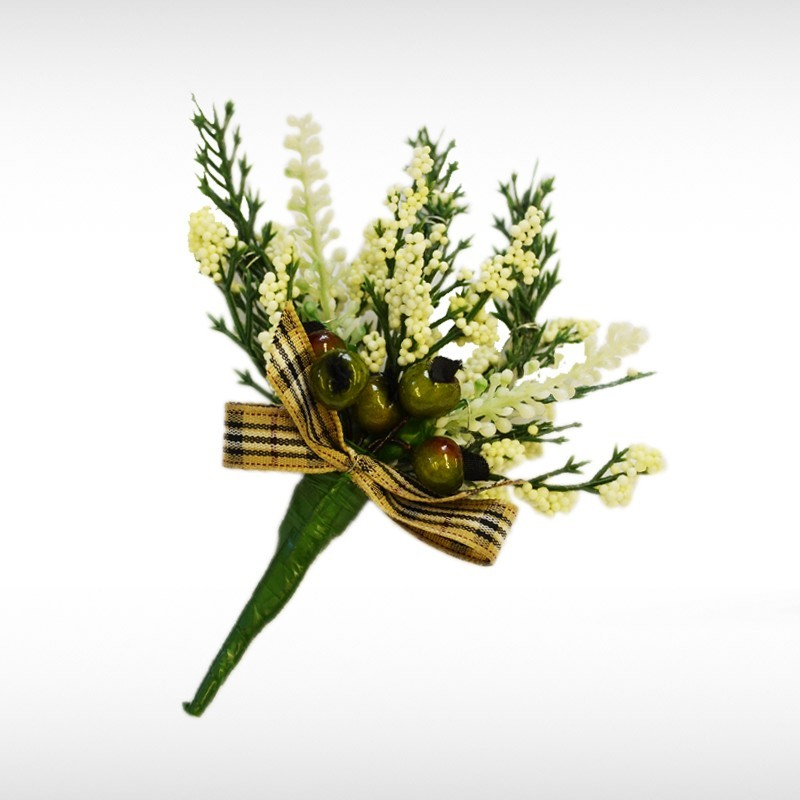 Gold Pride Heather Buttonhole