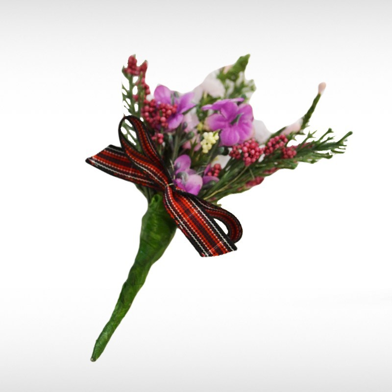 Welsh Pride Heather Buttonhole