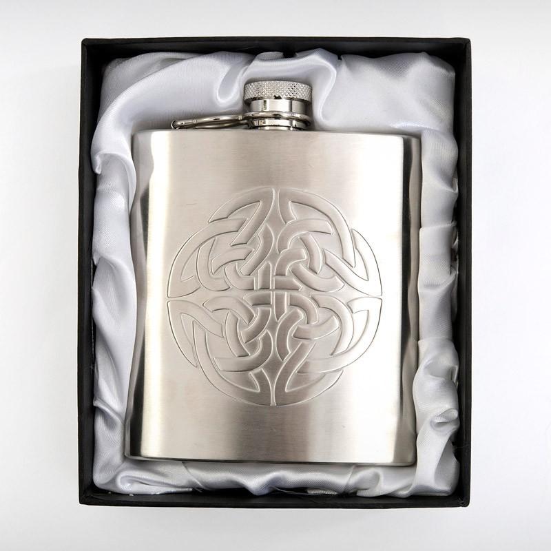 Celtic Knot Hip Flask