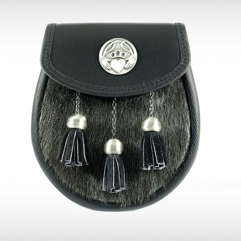 Sealskin & Black Leather Sporran