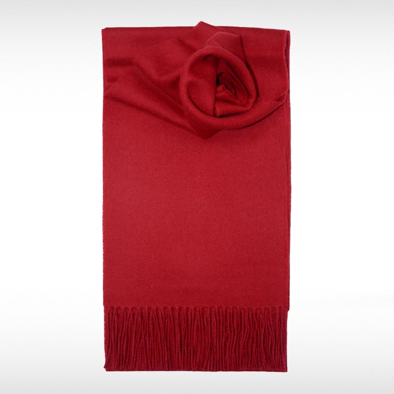 Red Lambswool Scarf