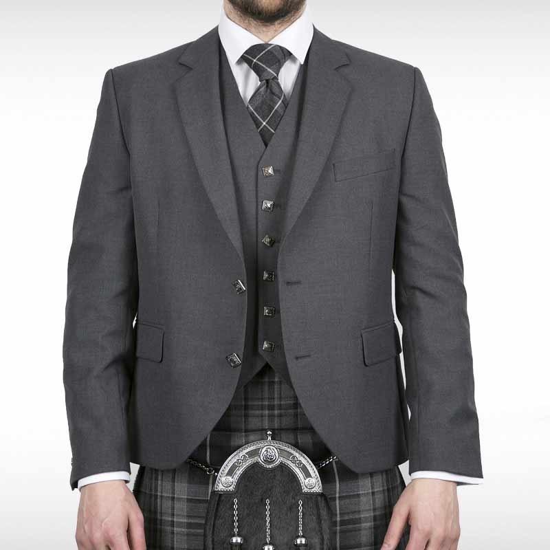 Silver Grey Contemporary Jacket & Waistcoat