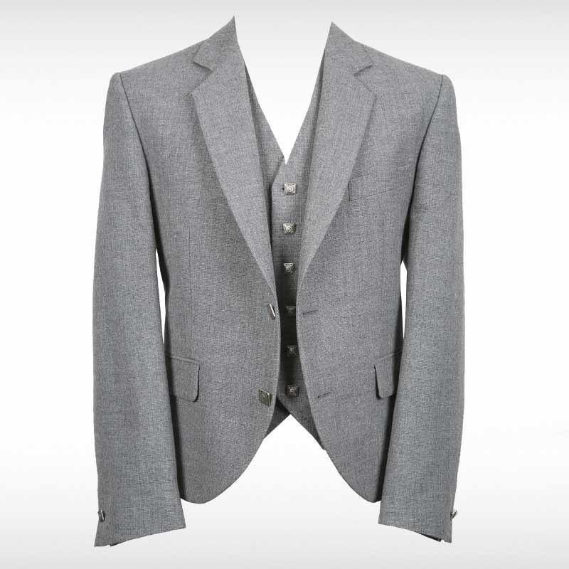 Light Grey Contemporary Jacket & Waistcoat