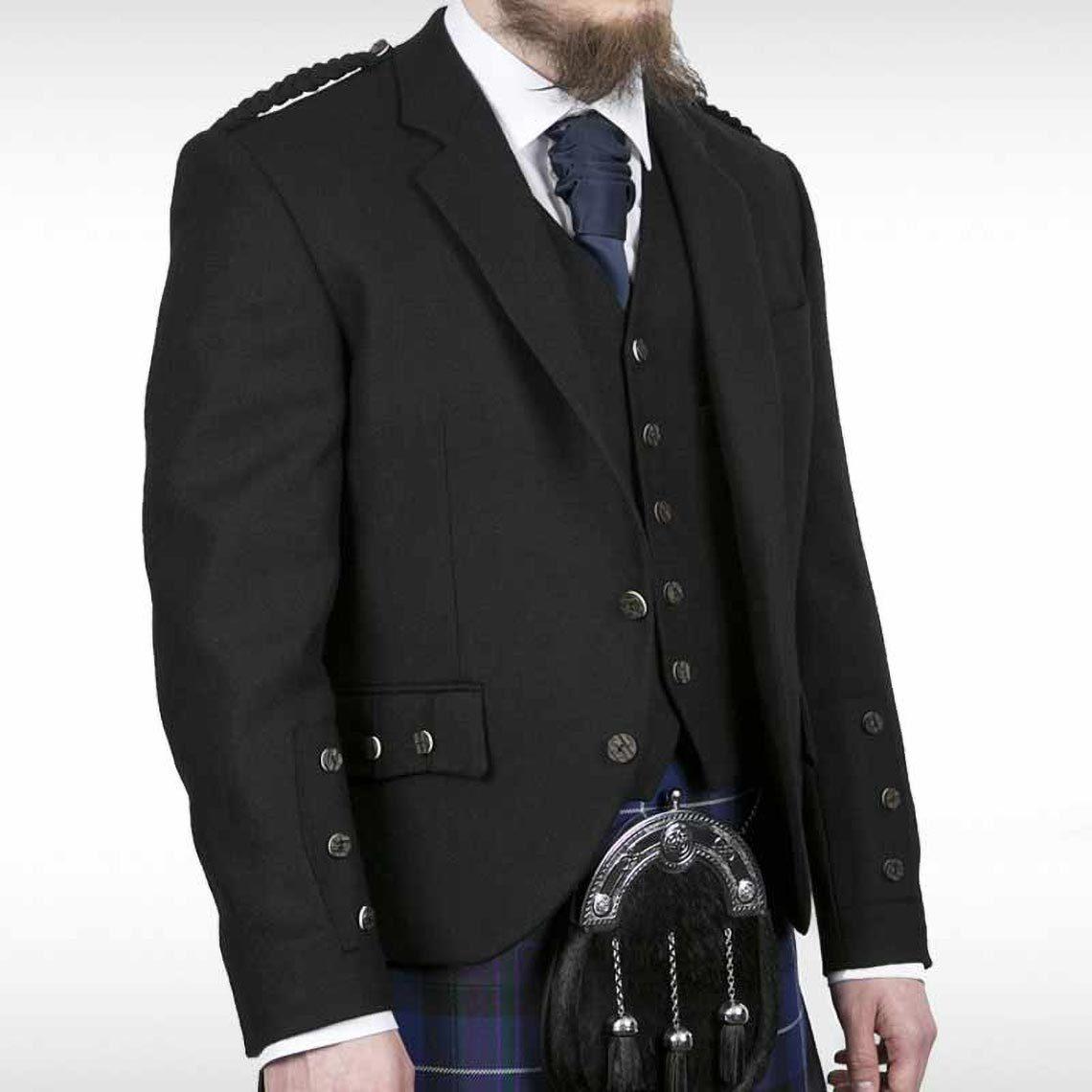 Black Crail Jacket & Waistcoat