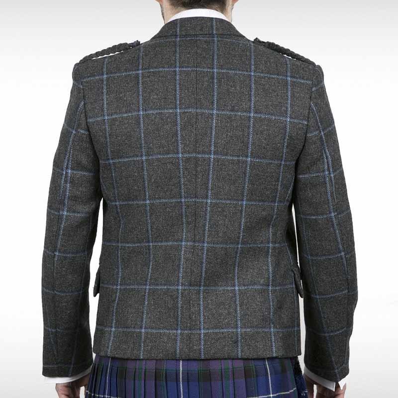 Blue Grey Check Crail Jacket & Waistcoat