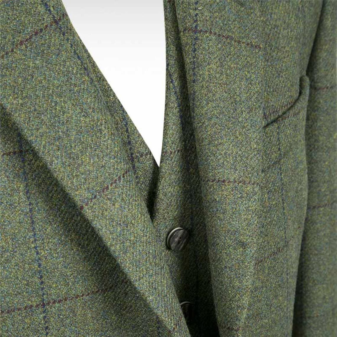 Dark Green Checked Crail Jacket & Waistcoat