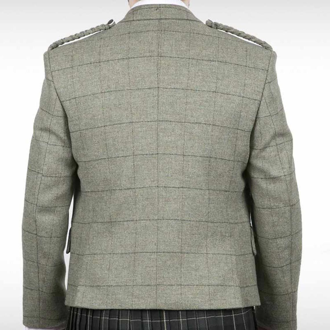 Pale Green Checked Crail Jacket & Waistcoat
