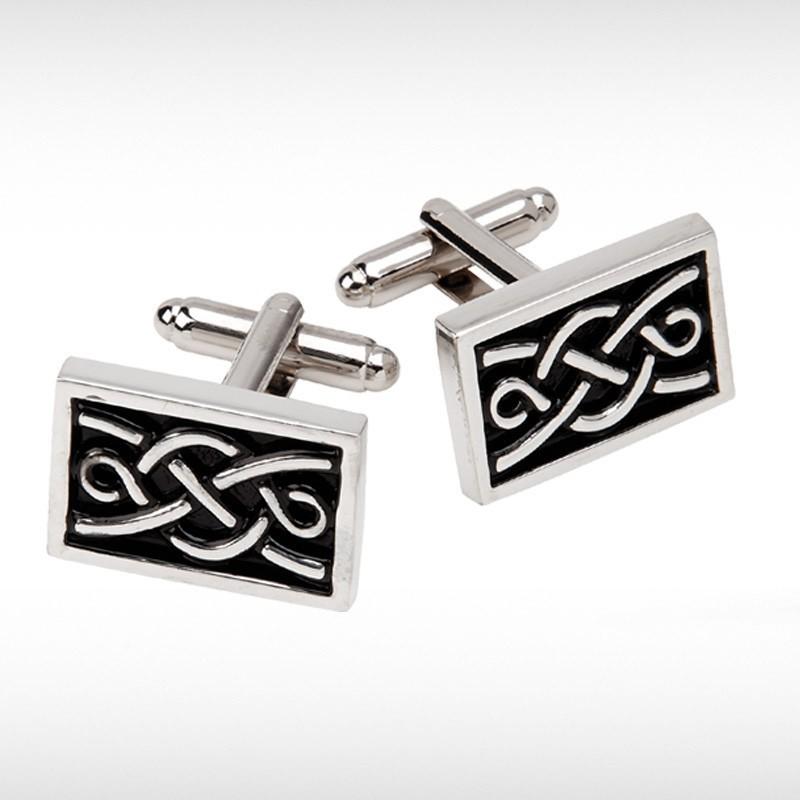 Rectangular Celtic Knot Cufflinks