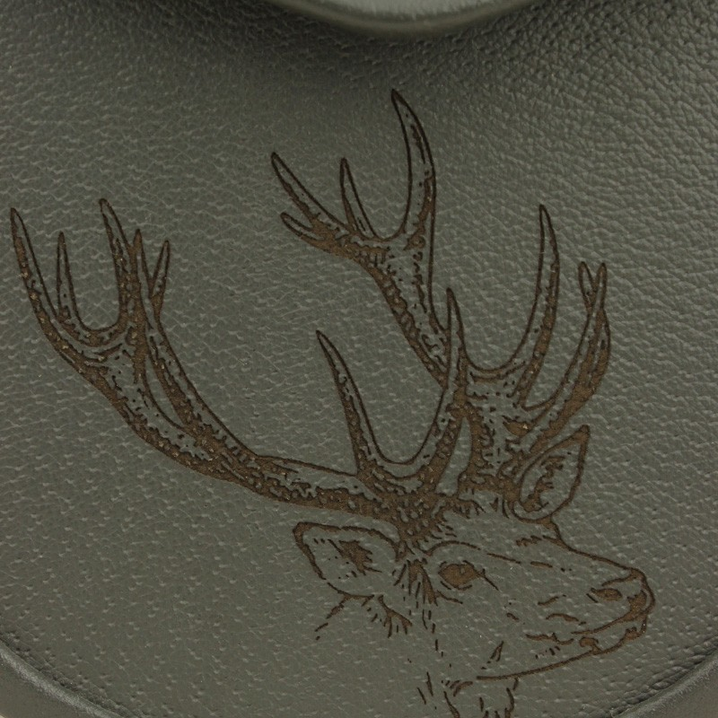 Stag Embossed Grey Leather Sporran