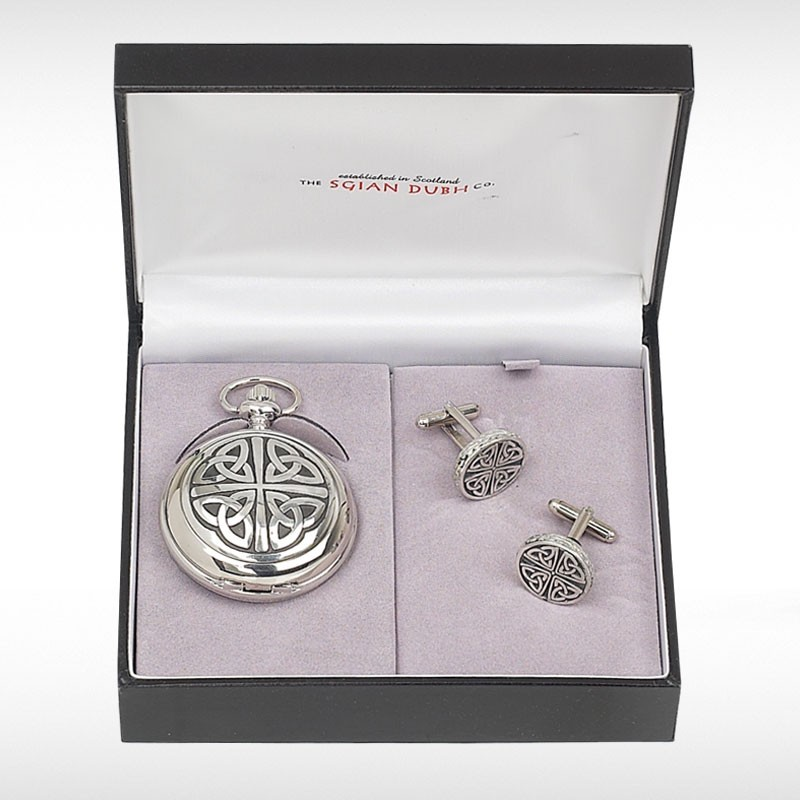Celtic Pocket Watch Two Piece Gift Set