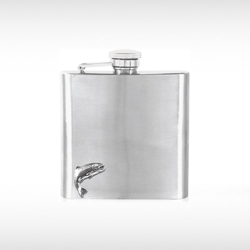 Trout Badge Hip Flask