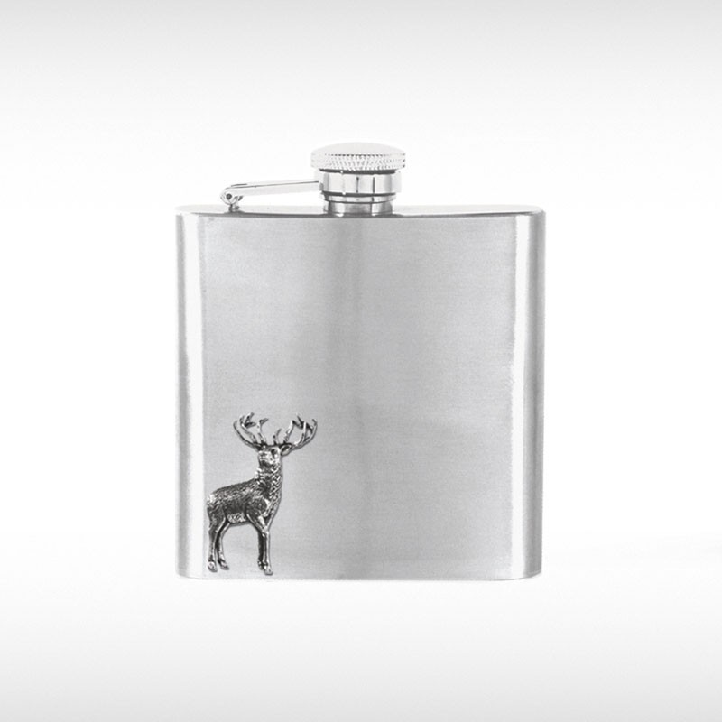 Stag Badge Hip Flask