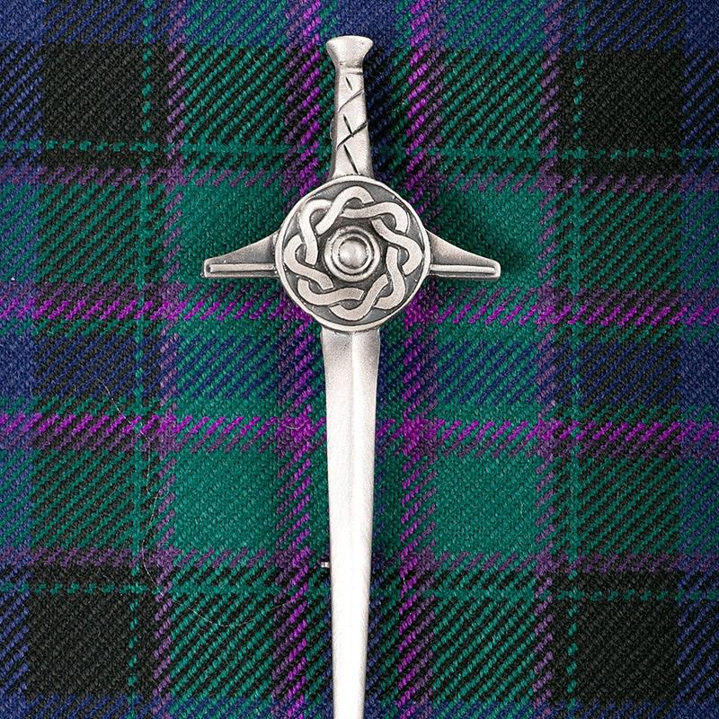 Targe Sword Kilt Pin