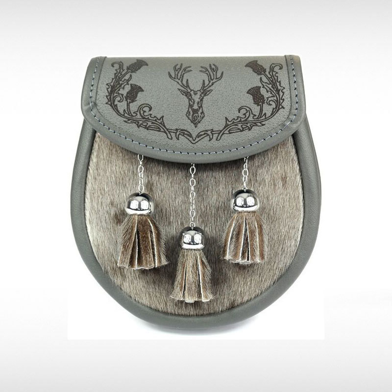 Sealskin & Grey Leather Sporran