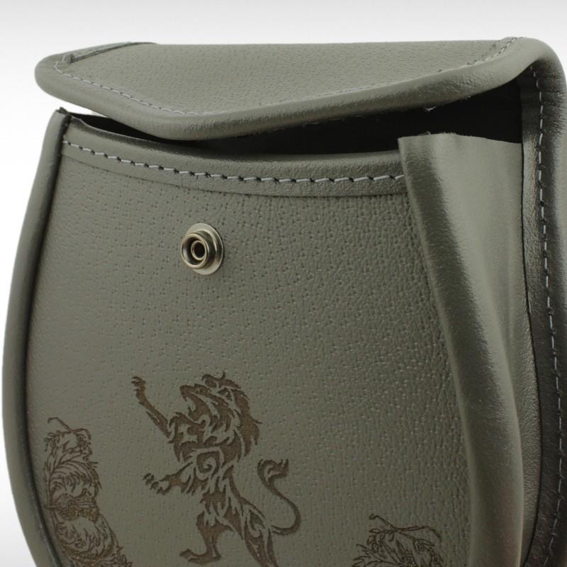 Lion Embossed Grey Leather Sporran