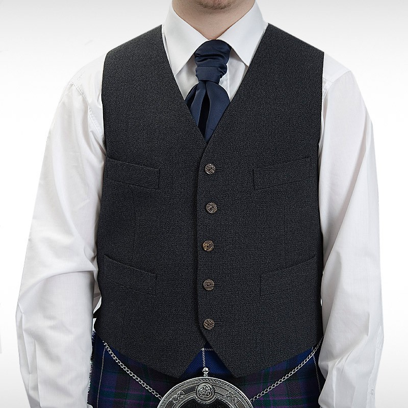Magee Charcoal Argyll Waistcoat