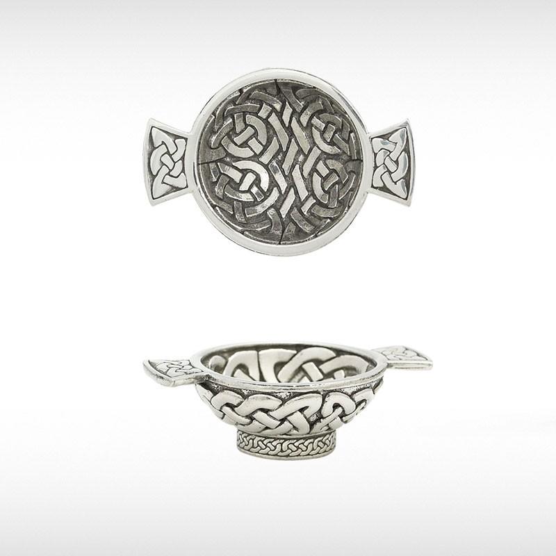Mini Quaich With Celtic Weave Design