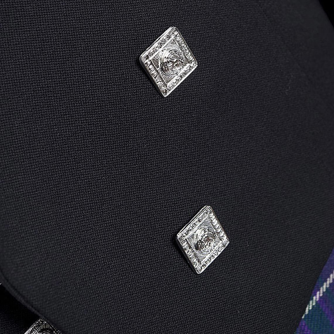 Black Oban Prince Charlie Jacket & Waistcoat