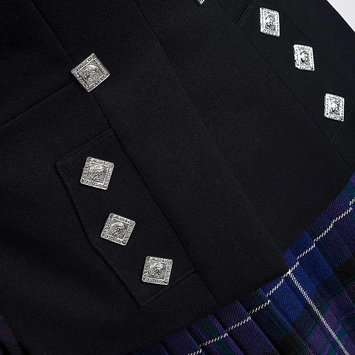 Navy Midon Prince Charlie Jacket & Waistcoat