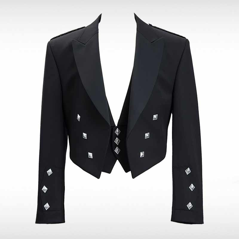 Black Prince Charlie Pride Jacket & Waistcoat
