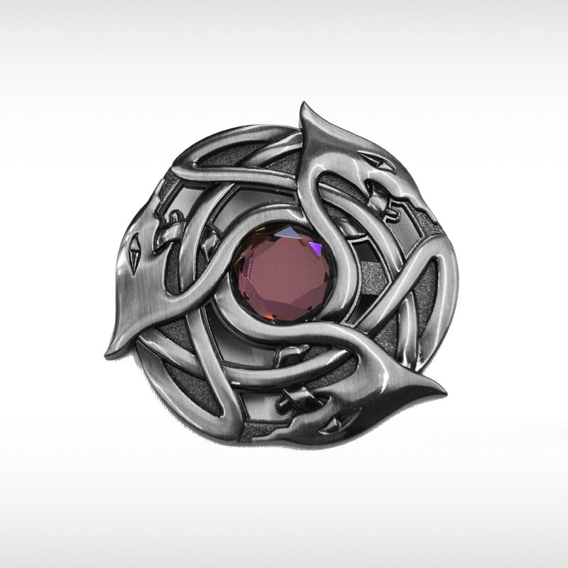 Contemporary Celtic Plaid Brooch