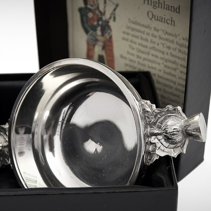 Quaich With Thistle Handles