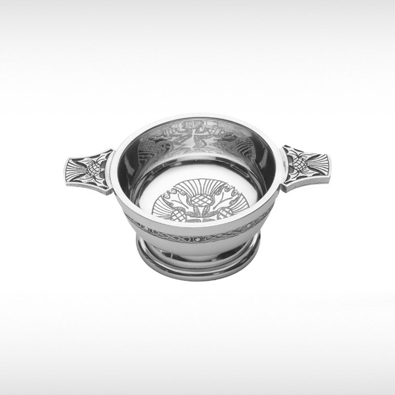Quaich With Thistle Motif
