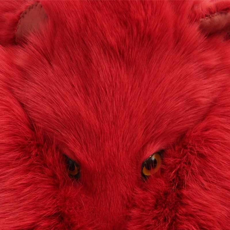 Red Dyed Artic Fox Sporran
