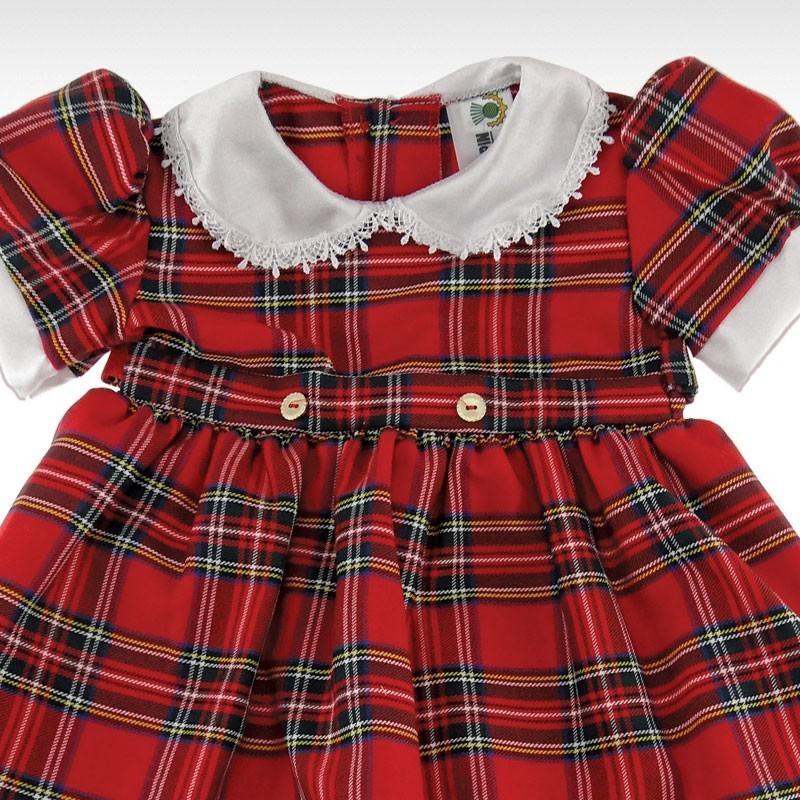 Royal Stewart Frill Collared Petticoat Dress
