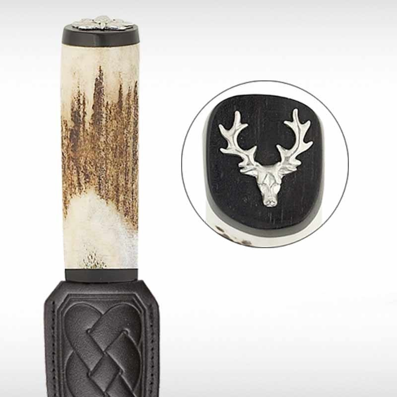 Stag's head Staghorn Sgian Dubh