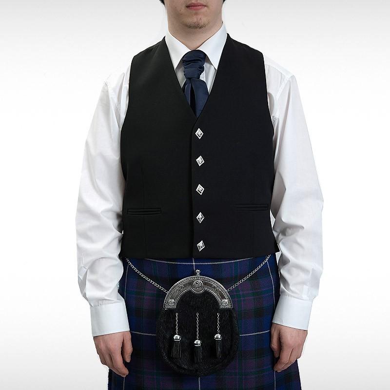 Black Sherrifmuir Pride Jacket & Waistcoat